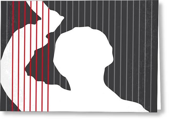No185 My Psycho minimal movie poster Greeting Card by Chungkong Art