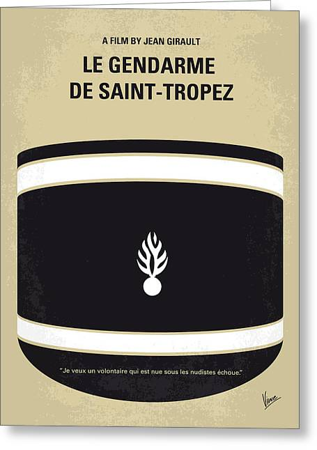 60s Greeting Cards - No186 My Le Gendarme de Saint-Tropez minimal movie poster Greeting Card by Chungkong Art