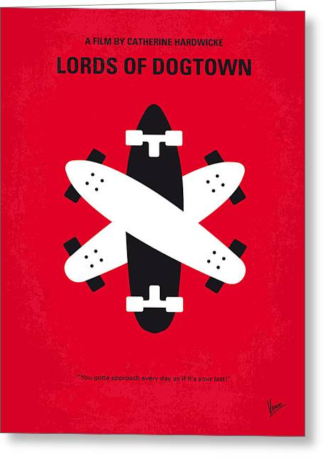 No188 My The Lords Of Dogtown Minimal Movie Poster Greeting Card by Chungkong Art