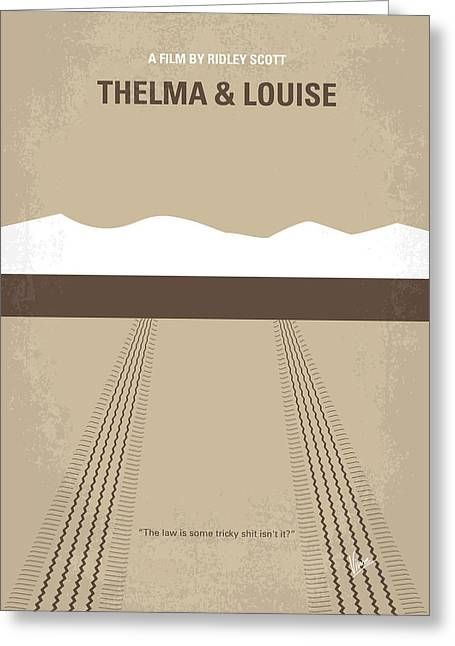 Original Greeting Cards - No189 My Thelma and Louise minimal movie poster Greeting Card by Chungkong Art