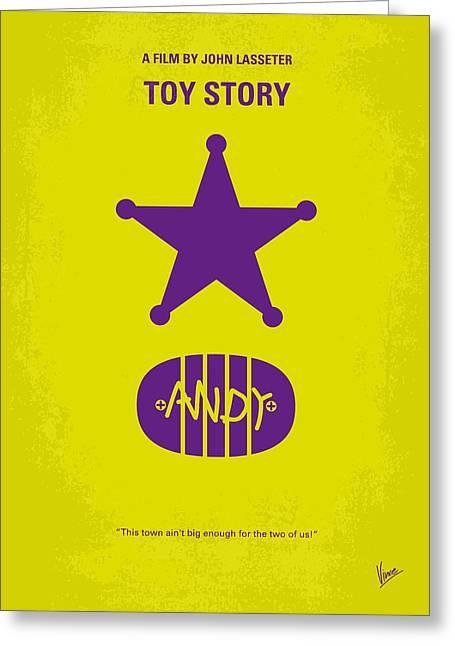 No190 My Toy Story Minimal Movie Poster Greeting Card by Chungkong Art