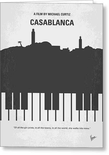 No192 My Casablanca Minimal Movie Poster Greeting Card by Chungkong Art