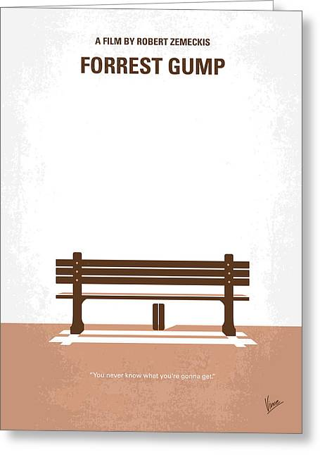 Printed Greeting Cards - No193 My Forrest Gump minimal movie poster Greeting Card by Chungkong Art
