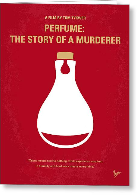 Scented Greeting Cards - No194 My Perfume The Story of a Murderer minimal movie poster Greeting Card by Chungkong Art