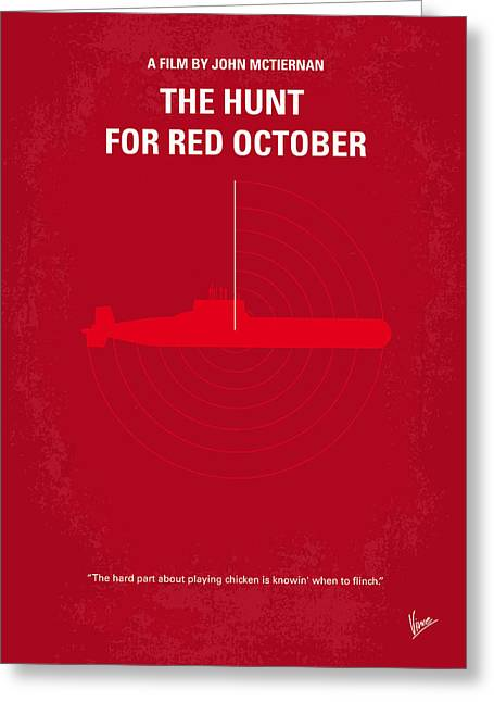 Original Greeting Cards - No198 My The Hunt for Red October minimal movie poster Greeting Card by Chungkong Art