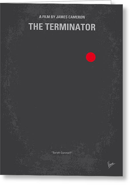Schwarzenegger Greeting Cards - No199 My Terminator minimal movie poster Greeting Card by Chungkong Art
