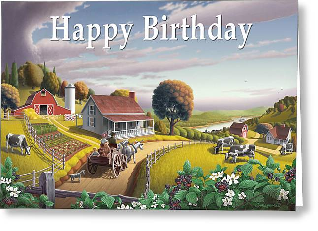 Ozark Alabama Greeting Cards - no2 Happy Birthday Greeting Card by Walt Curlee