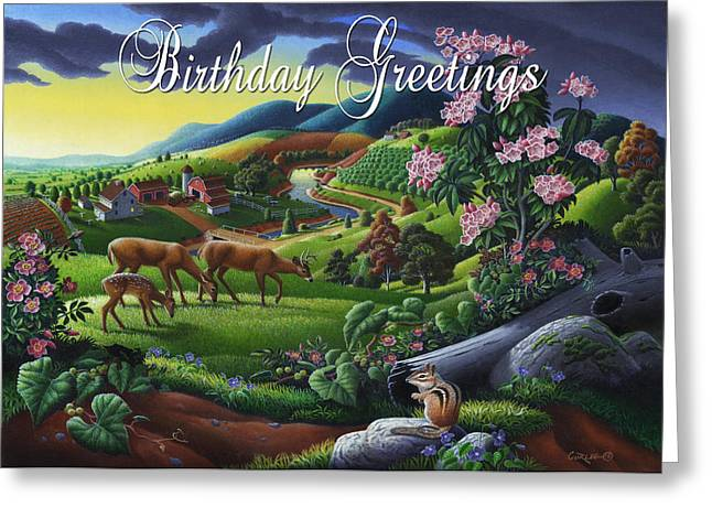 Tennessee Farm Greeting Cards - no20 Birthday Greetings Greeting Card by Walt Curlee