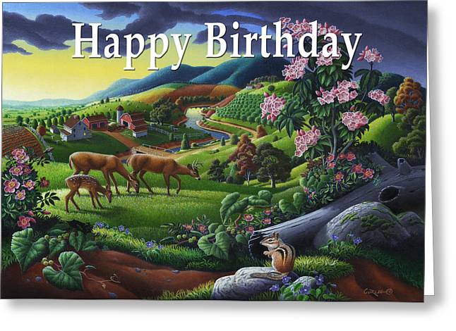 Tennessee Farm Greeting Cards - no20 Happy Birthday Greeting Card by Walt Curlee