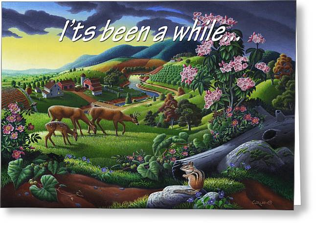 Tennessee Farm Greeting Cards - No20 Its Been A While Greeting Card by Walt Curlee