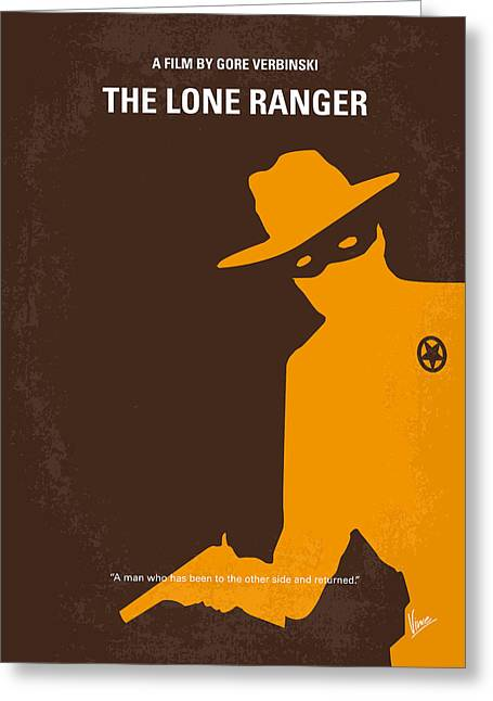 Ranger Greeting Cards - No202 My The Lone Ranger minimal movie poster Greeting Card by Chungkong Art