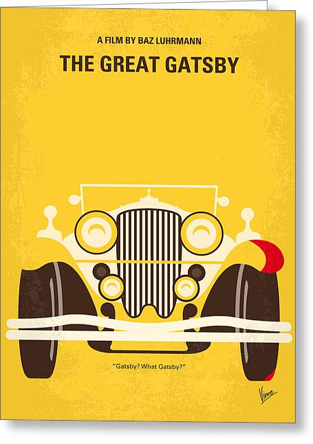 Simple Digital Greeting Cards - No206 My The Great Gatsby minimal movie poster Greeting Card by Chungkong Art