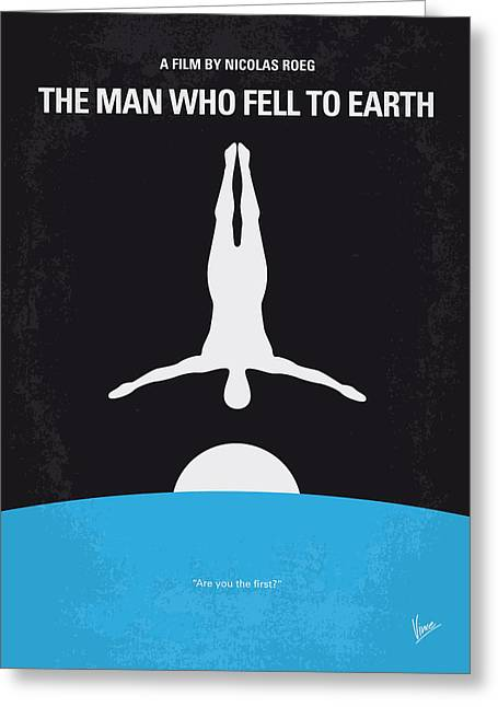 Tevis Greeting Cards - No208 My The Man Who Fell to Earth minimal movie poster Greeting Card by Chungkong Art