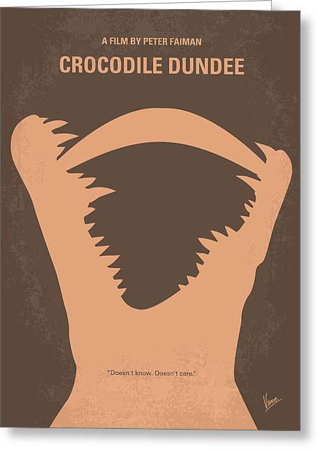 Nyc Posters Digital Art Greeting Cards - No210 My Crocodile Dundee minimal movie poster Greeting Card by Chungkong Art