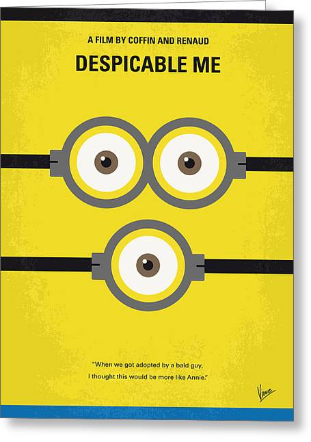 Movie Art Greeting Cards - No213 My Despicable me minimal movie poster Greeting Card by Chungkong Art