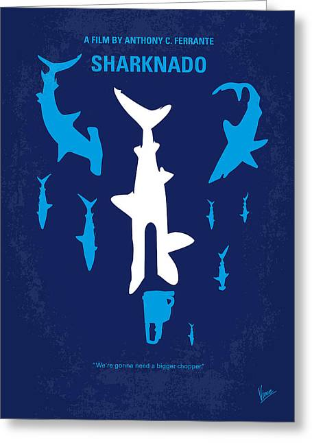 Storming Greeting Cards - No216 My Sharknado minimal movie poster Greeting Card by Chungkong Art