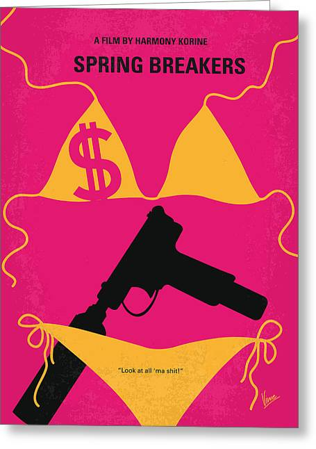 Classic Hollywood Greeting Cards - No218 My SPRING BREAKERS minimal movie poster Greeting Card by Chungkong Art