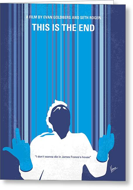 Apocalypse Greeting Cards - No220 My This is the end minimal movie poster Greeting Card by Chungkong Art