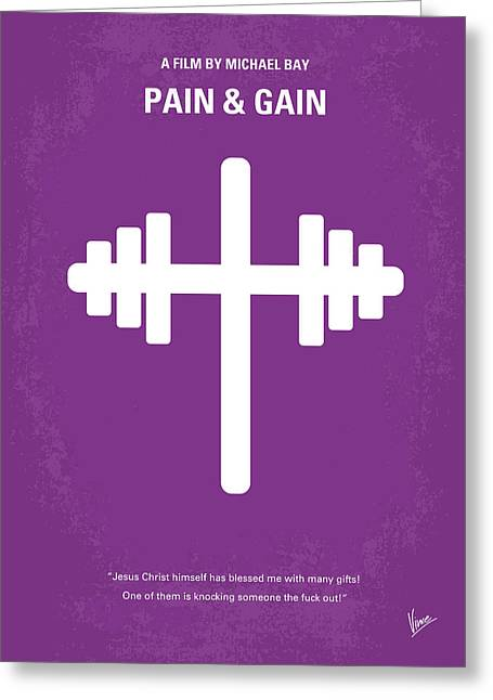 No221 My Pain And Gain Minimal Movie Poster Greeting Card by Chungkong Art