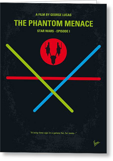 Logos Greeting Cards - No223 My STAR WARS Episode I The PHANTOM MENACE minimal movie poster Greeting Card by Chungkong Art