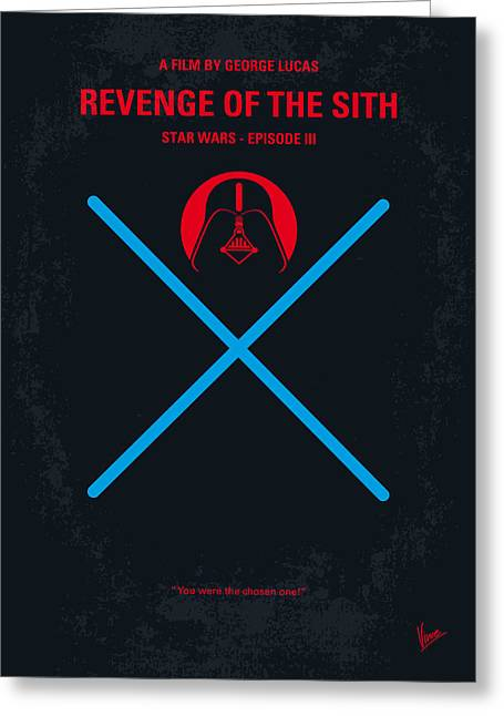No225 My Star Wars Episode IIi Revenge Of The Sith Minimal Movie Poster Greeting Card by Chungkong Art