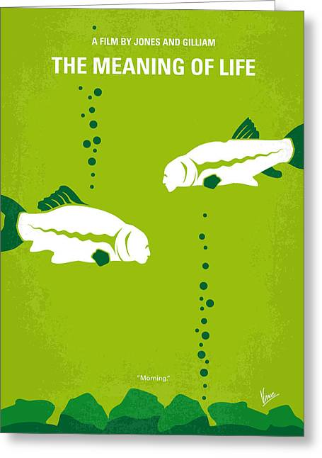 Classic Hollywood Greeting Cards - No226 My The Meaning of life minimal movie poster Greeting Card by Chungkong Art