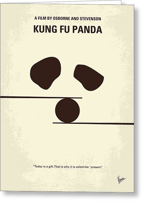 No227 My Kung Fu Panda Minimal Movie Poster Greeting Card by Chungkong Art