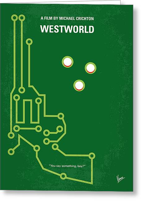 Classic Hollywood Greeting Cards - No231 My Westworld minimal movie poster Greeting Card by Chungkong Art