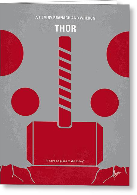 Thor Greeting Cards - No232 My THOR minimal movie poster Greeting Card by Chungkong Art