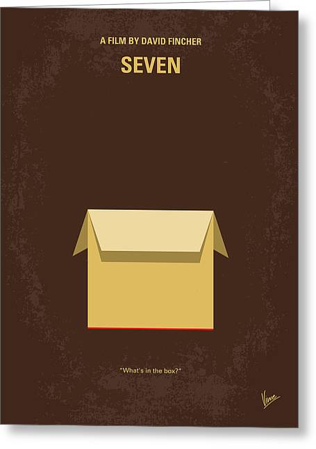 No233 My Seven Minimal Movie Poster Greeting Card by Chungkong Art