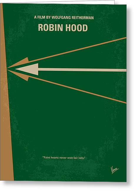 Disney Digital Greeting Cards - No237 My Robin Hood minimal movie poster Greeting Card by Chungkong Art