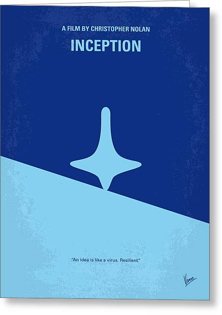 Film Print Greeting Cards - No240 My Inception minimal movie poster Greeting Card by Chungkong Art