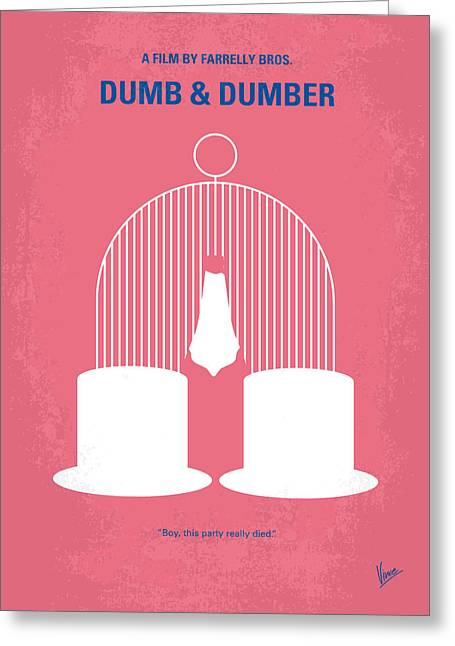 Jeff Digital Art Greeting Cards - No241 My Dumb and Dumber minimal movie poster Greeting Card by Chungkong Art