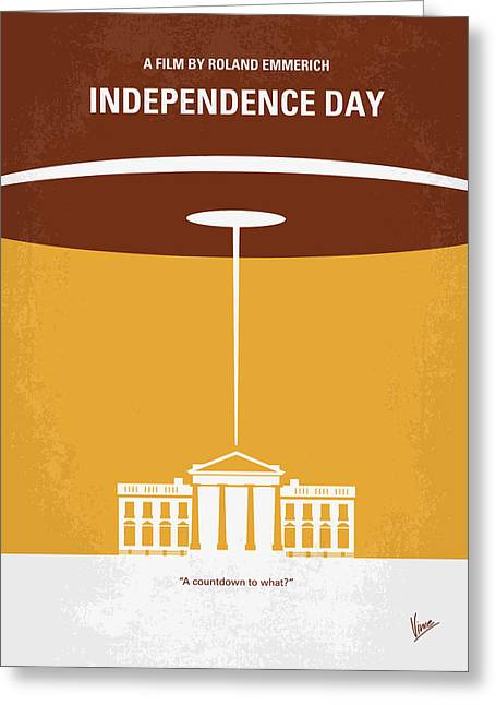 White House Prints Greeting Cards - No249 My INDEPENDENCE DAY minimal movie poster Greeting Card by Chungkong Art