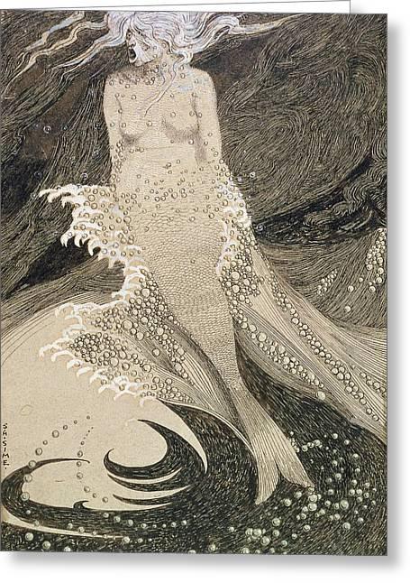 The Mermaid Greeting Card by Sidney Herbert Sime