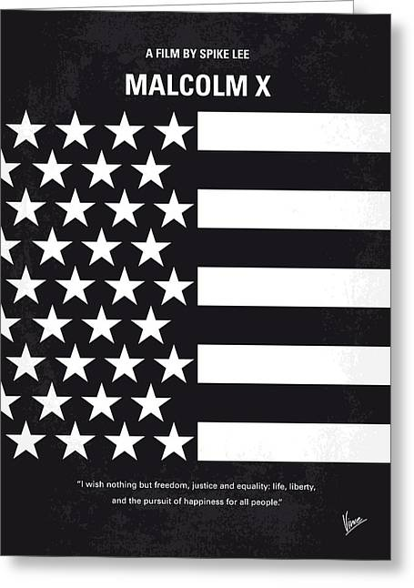 Jail Greeting Cards - No250 My MALCOLM X minimal movie poster Greeting Card by Chungkong Art