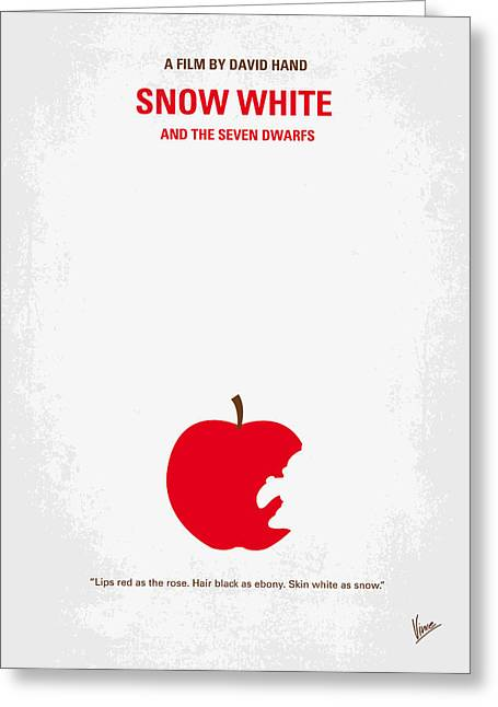 Mirrored Greeting Cards - No252 My SNOW WHITE minimal movie poster Greeting Card by Chungkong Art