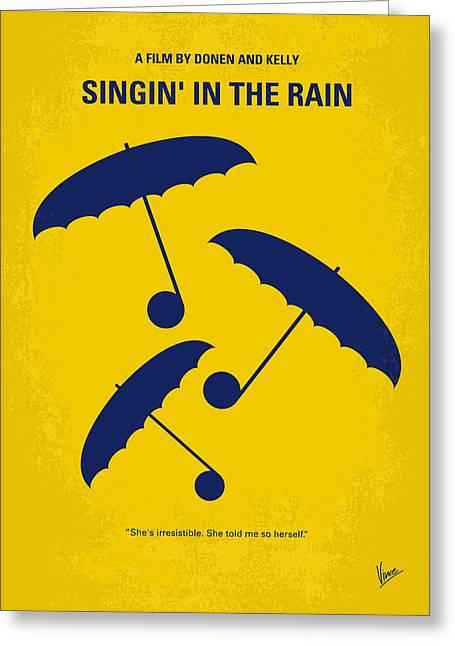 No254 My Singin In The Rain Minimal Movie Poster Greeting Card by Chungkong Art