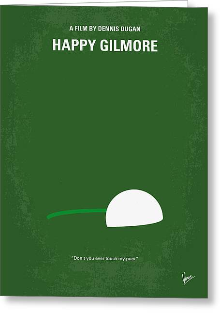 Golf Design Greeting Cards - No256 My Happy Gilmore minimal movie poster Greeting Card by Chungkong Art
