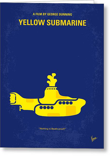 Lonely Greeting Cards - No257 My YELLOW SUBMARINE minimal movie poster Greeting Card by Chungkong Art