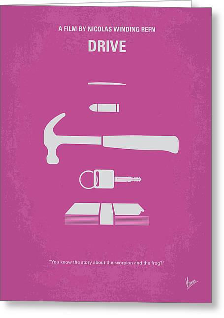 Movie Art Greeting Cards - No258 My DRIVE minimal movie poster Greeting Card by Chungkong Art