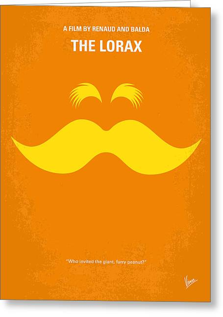 Protected Greeting Cards - No261 My THE LORAX minimal movie poster Greeting Card by Chungkong Art