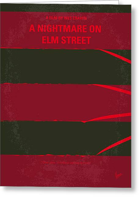 Fall Digital Art Greeting Cards - No265 My NIGHTMARE ON ELMSTREET minimal movie poster Greeting Card by Chungkong Art