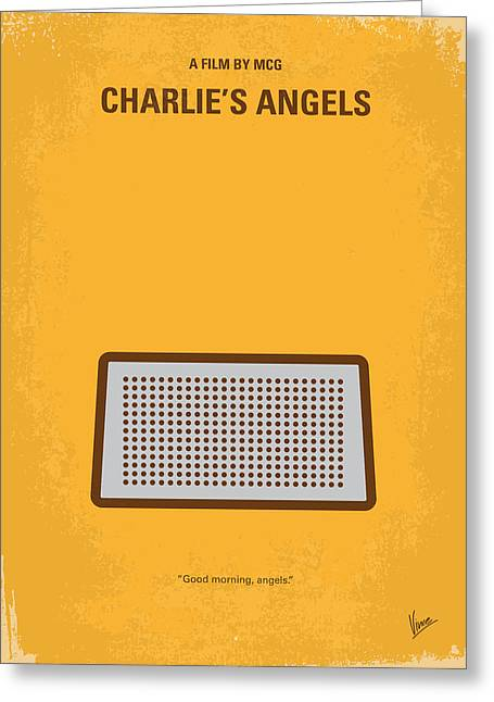 Drawn Greeting Cards - No273 My Charlies Angels minimal movie poster Greeting Card by Chungkong Art