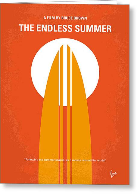 No274 My The Endless Summer Minimal Movie Poster Greeting Card by Chungkong Art