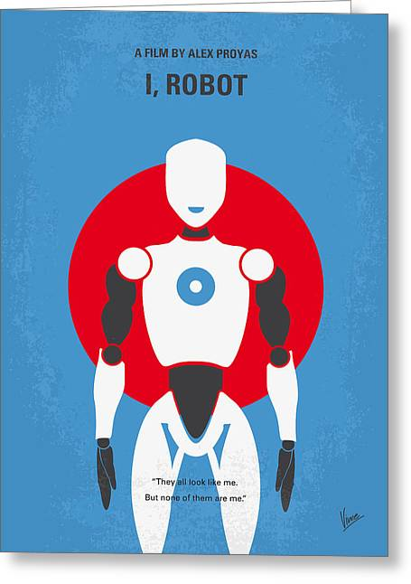 Isaac Greeting Cards - No275 My I ROBOT minimal movie poster Greeting Card by Chungkong Art