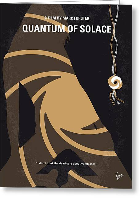 Connery Greeting Cards - No277-007-2 My Quantum of Solace minimal movie poster Greeting Card by Chungkong Art