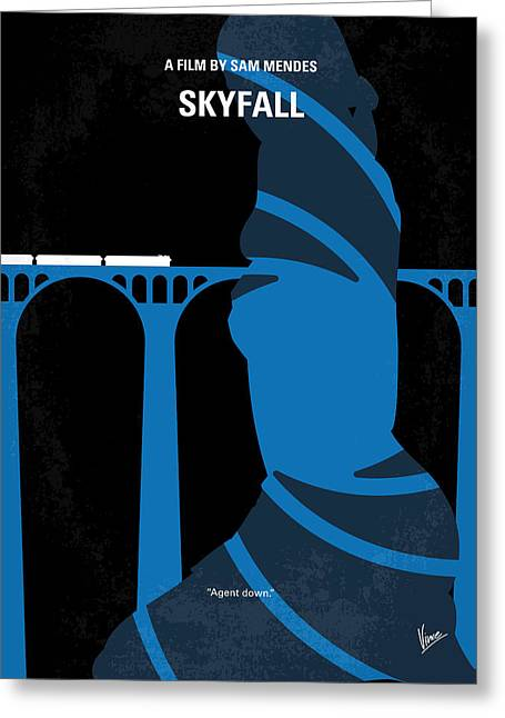 Young Digital Art Greeting Cards - No277-007-2 My Skyfall minimal movie poster Greeting Card by Chungkong Art