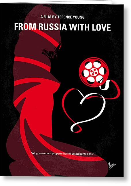 Connery Greeting Cards - No277-007 My from Russia with love minimal movie poster Greeting Card by Chungkong Art