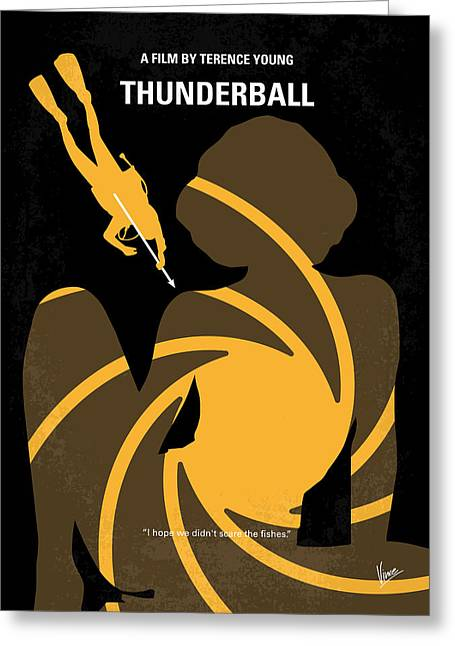 Connery Greeting Cards - No277-007 My Thunderball minimal movie poster Greeting Card by Chungkong Art